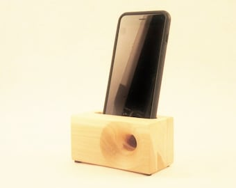 Acoustic iPhone Speaker for iPhone 4 and iPhone 5, Passive iPhone Speaker, Wood iPhone Dock,  iPhone Speaker Dock