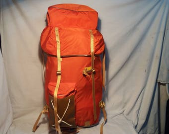 Vintage Alpine Backpack with Aluminum Pack-Saddle - Large Size.MADE IN POLAND