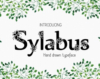 Sylabus font, hand drawn typeface, hand sketched font, Commercial Download, TTF, OTF