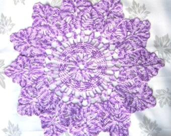 Purple Star doily