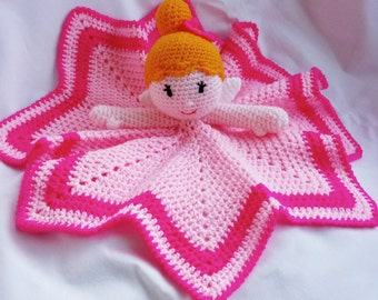 Fairy / princess / baby girls comfort blanket / new baby gift / cuddly toy / baby shower