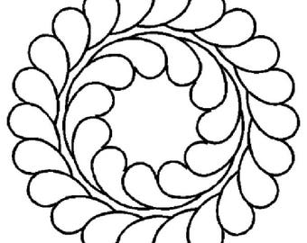 """Double Feather Quilt Stencil, 5-1/2 x 5-1/2"""" - 0340"""