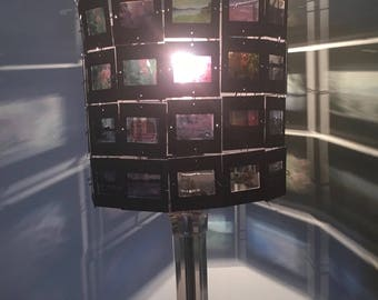 Custom made lamp and lamp shade with your photo slides