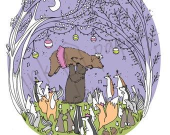 Party Animals Birthday Card - Woodland Birthday Card - Bear Card - Party Card - Animal Card