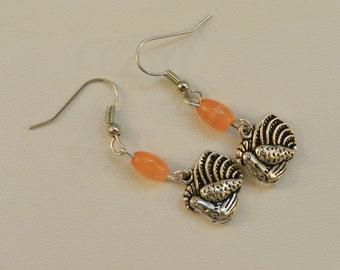 Silver Turkey Thanksgiving Earrings V4281