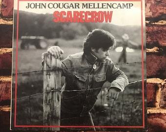 """Vinyl Record LP Vinyl Record John Mellencamp Records John Cougar Vinyl Records Scarcrow 1985 Mellencamp Cougar Mellencamp Classic Rock 12"""""""