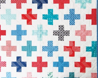 Simple Addition Quilt Pattern - Cluck Cluck Sew CCS 166 - Jelly Roll Friendly Quilt Pattern - Modern Quilt Pattern
