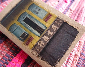 Small Notebook Gift - 20. Singapore Shophouse Turquoise Windows - Mini Travel Pocket Diary