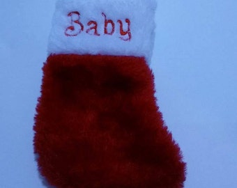 Baby Stocking for Baby Reveal, Baby Christmas Stocking