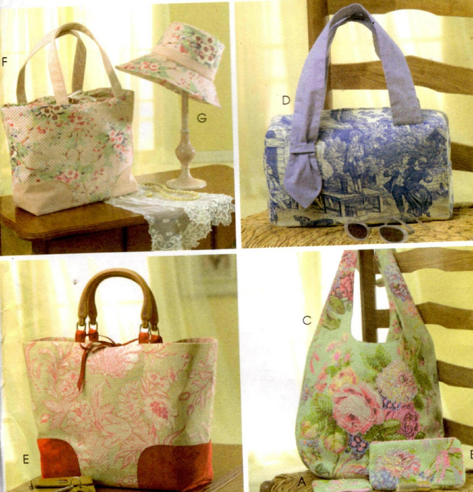 McCall\'s Crafts 4400 Sewing Pattern - Laura Ashley Bags, Hats and ...