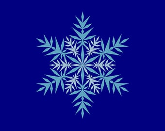 Pointy Snowflake Icy Frozen Ice Embroidery Machine Design 10 SIZES