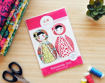 Babushka Doll Pattern HARD COPY Paper Sewing Pattern. Home Decor, Doorstop, Book Ends, How to Make Russian Matryoshka Dolls