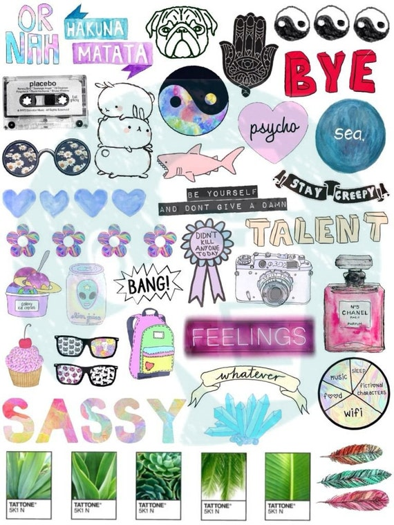 Tumblr stickers stickers set of stickers decals