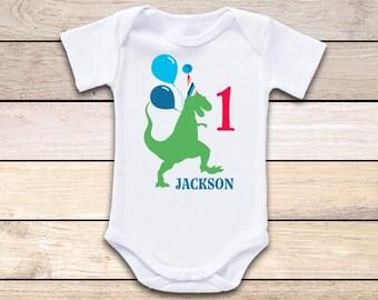 Dinosaur Birthday Onesie®, Birthday Boy Onesie, First Birthday Onesie, Birthday One Onesie, Dinosaur First Birthday Onesie