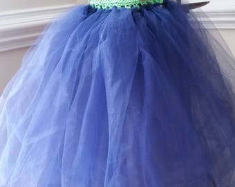 Handmade Crochet and Tule dress for 1-3 year old. Free shipping