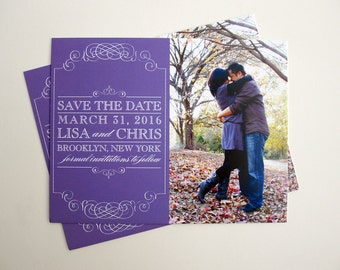 Ornate Frame Save the Date Photo Cards