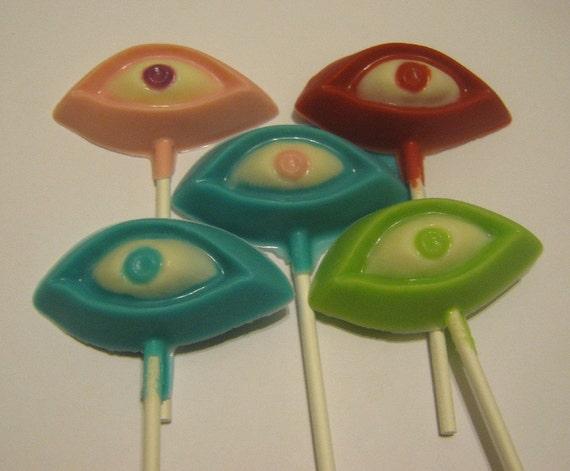 Eye See You - One dozen spooky silly eye lollipop suckers party favors
