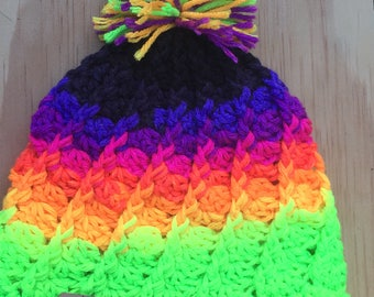 Infant neon stripe hat