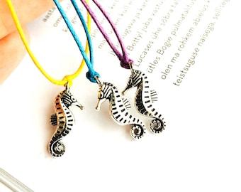 Seahorse bracelet, wish bracelet, cord bracelet, string bracelets, girlfriend gift, boyfriend gift, charm bracelet, friendship bracelet
