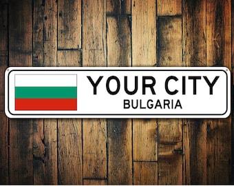Bulgaria Flag Sign, Bulgaria Souvenir, Bulgaria Gift, Country Souvenir, Metal City Sign, City Sign, City Souvenir Sign-Quality Aluminum Sign
