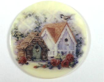 Mother of Pearl Button-Birdhouses