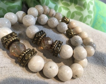 Boho Simple Neutral Gemstone Bracelet