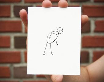 Stickman Greeting Cards