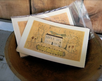 My House - LIMITED EDITION Folk Art Notecards - from Notforgotten Farm™