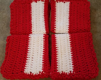 100% Cotton, Crocheted Washcloth, Crocheted Dishcloth, Handmade, Wash Cloth, Wash Rag, Dish Cloth, Dish Rag