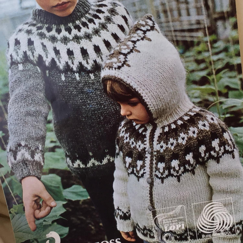 UK/EU SELLER Vintage pdf knitting pattern Lopi 77 Icelandic Childs ...