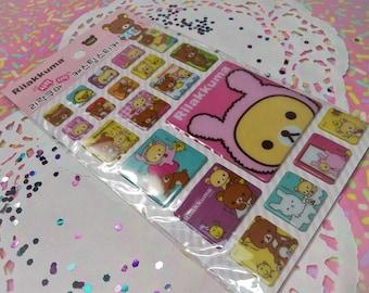 Sale 3D Kawaii Puffy Rilakkuma Brown Bear Sticker Sheet For Snail mail, cards, gifts, planners, photos, cell phones, school, scrapbooking.