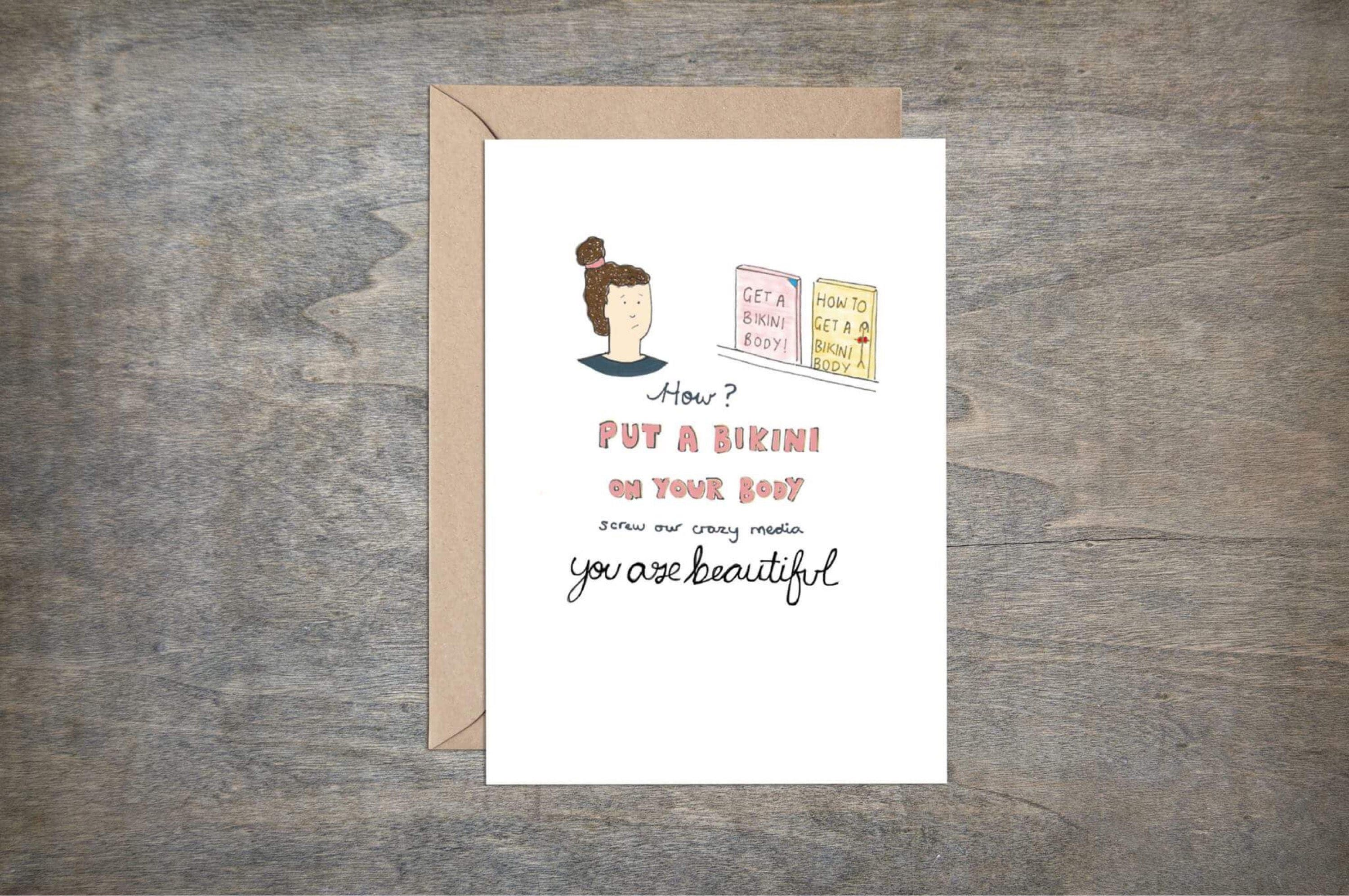 Body positive card friend card greetings card greetings zoom kristyandbryce Image collections