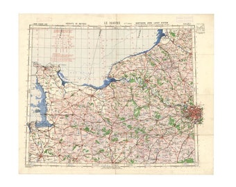 Normandy map Etsy