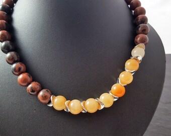 Autumn Brown necklace