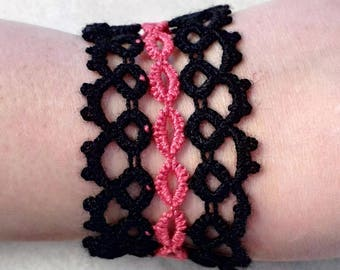 Tatted Cuff Style Bracelet
