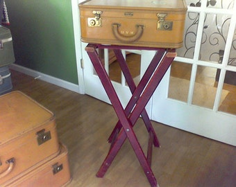 Suitcase stand, serving tray stand, table base,dining and serving