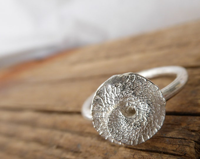 Pod Ring Sterling Silver Ring Botanical Jewelry Nature Lover Minimalist