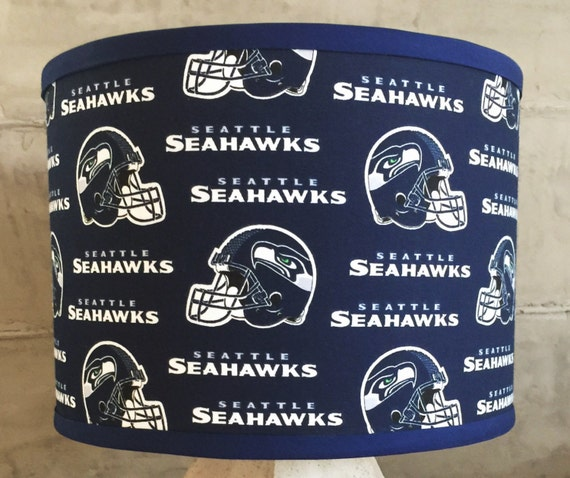 Nfl seattle seahawks trendy drum lamp shade for man cave fan mozeypictures Image collections