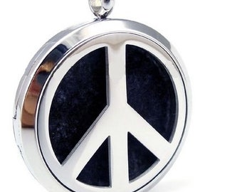 Peace Sign Essential Oil Perfume Diffuser Locket