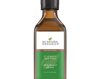 Organic Tea Tree Oil – Essential Oil – Eco friendly Cleaner, 3.4oz (100ml)
