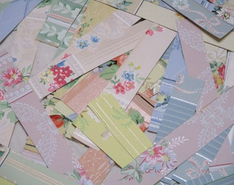 Pretty Papers-Vintage Wallpaper Scrap Packs-Antique-Paper Parcels-Ephemera-Scrap Packs-Gorgeous Borders Strips for Altered Books
