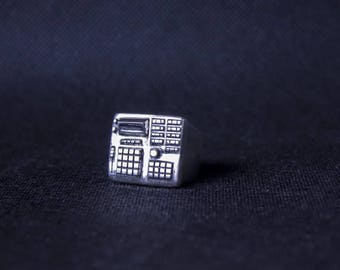 Massive hip hop ring, men heavy ring, maxi Sterling silver man ring, lost wax carved audio mixer AKAI