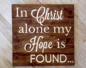 "16"" x 16"" In Christ Alone Wall Art"