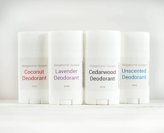 PICK TWO and SAVE Twist Up Deodorant   2.5 oz Twist Applicator   All Natural   Aluminum and Paraben Free