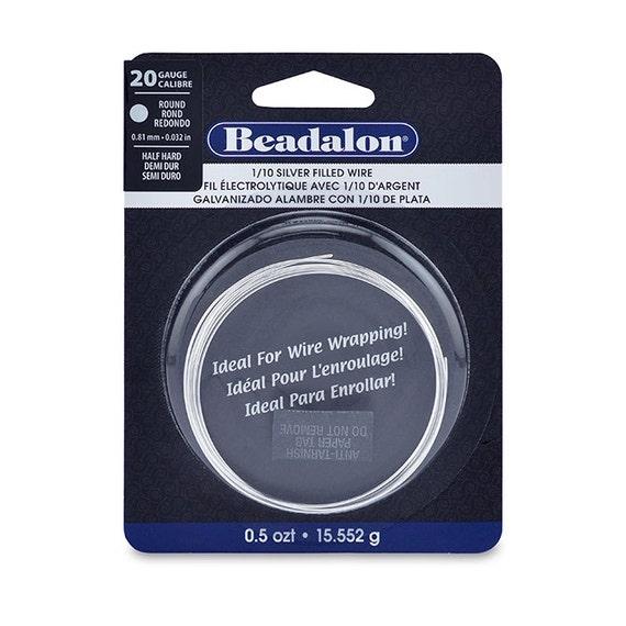 Wire, Silver Filled, Half Hard, Round, 20 gauge (.032 in, .81 mm), 0.5 oz t (15.552 g), appx. 11ft (3.5m)
