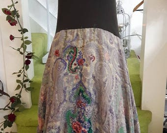 Hand made unique dress ,Hand embroidered ,just one off