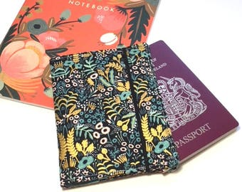 Passport Cover Rifle Paper Co, Travel Organizer, Travel Wallet, Passport Holder, Passport Wallet, Gift for Traveler, Tapestry Midnight