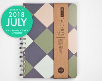 2018 2019 WEEKLY Planner with a high quality paper! Minimal design A5 Diary! Daily Calendar Calendario Kalender Agenda Journal! Open-dated