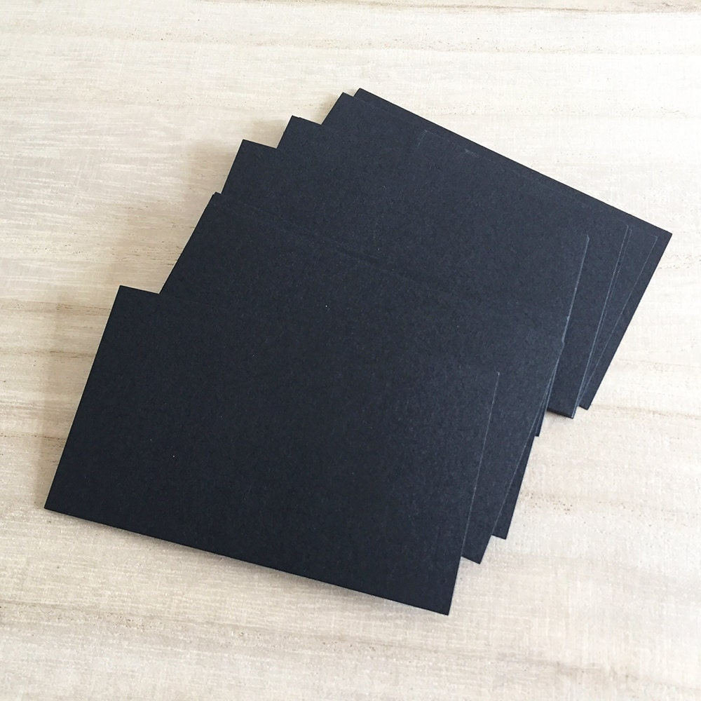 100 pcs Blank Business Cards - Black Business Card Colored Cardstock ...