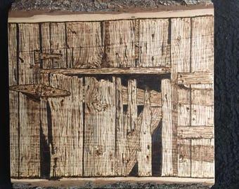 Rusty Hinge on Old Barn Door #3